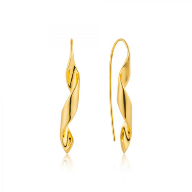 Helix Hook Earrings-Gold