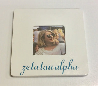Zeta Tau Alpha-White Square Photo Frame