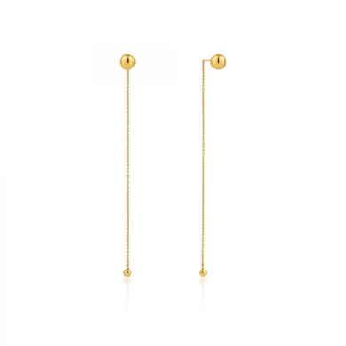 Orbit Drop Earrings-Gold