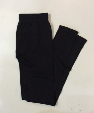 Tina's Micro Rib Black Leggings