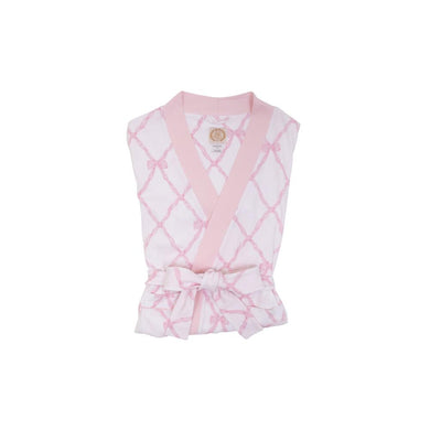 TBBC-Belle Meade Bow-Ready or Not Robe (Ladies size M:4-6)with Palm Beach Pink