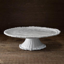 Load image into Gallery viewer, VIDA Alegria White Pedestal Cake Plate