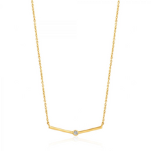 Load image into Gallery viewer, Shimmer Single Stud Necklace-Gold