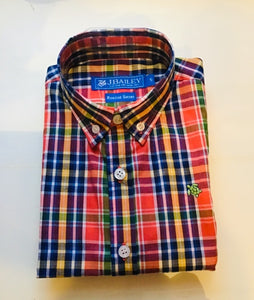 J Bailey-L/S Roscoe Button Down Shirt-Harvest Plaid