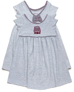 MSU Girls Maroon Bulldog S/S Dress