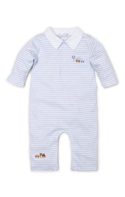 Kissy Kissy-Baby Boys Playsuit- All Aboard Stripe
