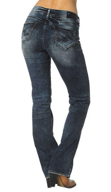 Silver Jeans-Suki Bootcut Whiskered Dark Wash