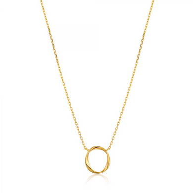 Swirl Necklace-Gold