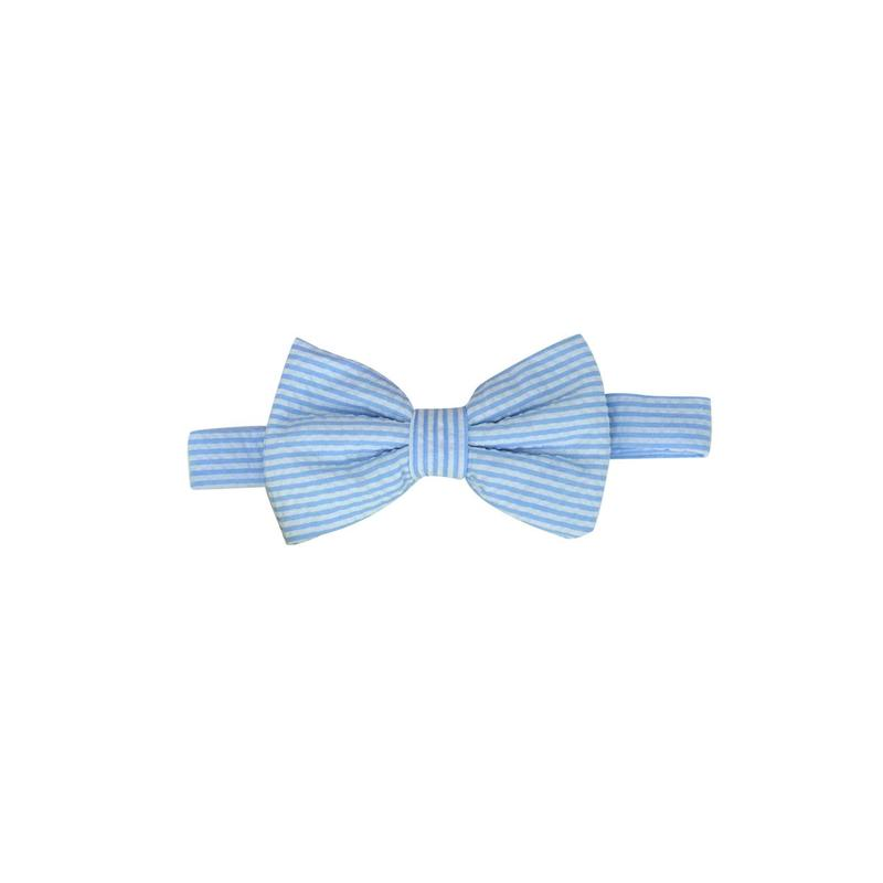 Baylor Bow Tie-Breakers Blue Seersucker