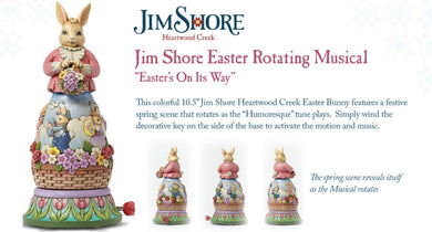 Disney Traditions-Heartwood Creek Rotating Musical Easter Bunny
