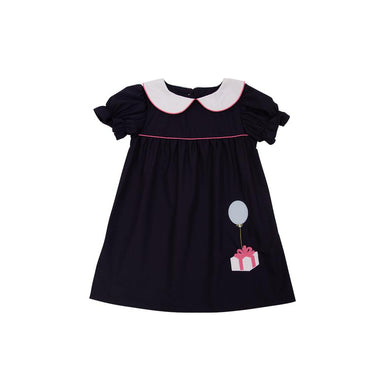 TBBC-Holly Day Dress-Nantucket Navy w/Hamptons Hot Pink & Gift Applque