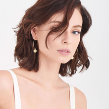 Load image into Gallery viewer, Boreas Hoop Earrings-Gold