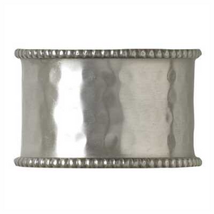 Napkin Rings-Hammered Pewter