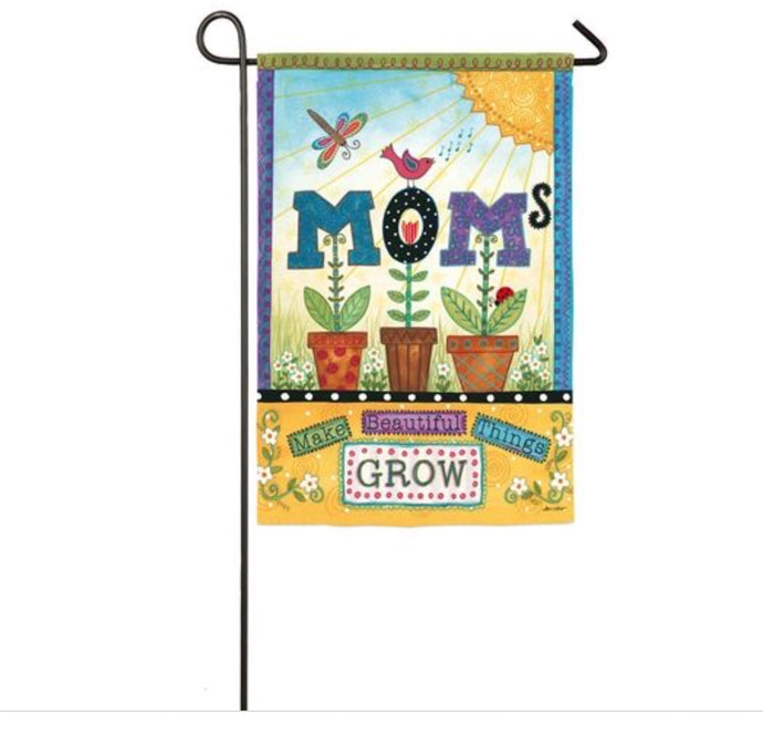 Garden Flag-Mom's Bloom Suede