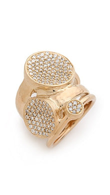 Margo Pave Ring Gold White CZ-SIZE 8