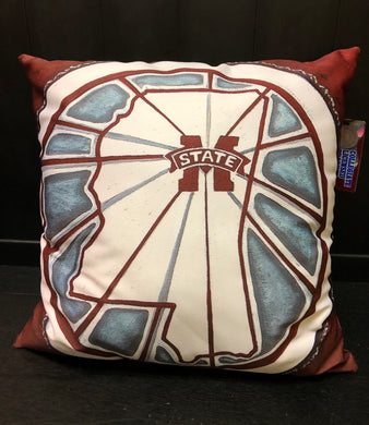 MSU Pillow-Stained Glass Window