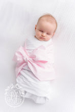 Load image into Gallery viewer, TBBC-Bow Swaddle-Plantation Pink