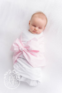 TBBC-Bow Swaddle-Plantation Pink