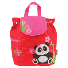 Quilted Backpack-Panda