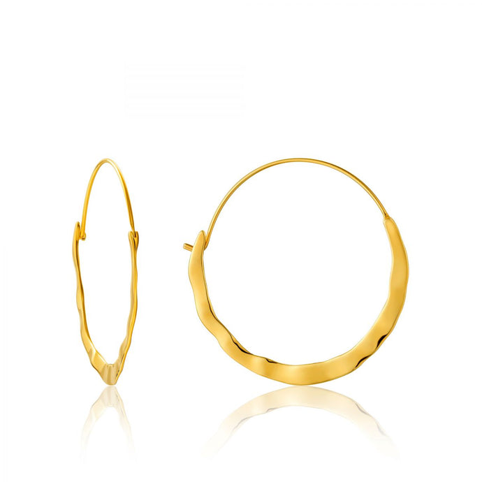 Crush Hoop Earrings-Gold