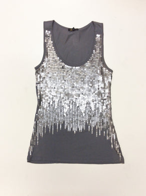 Gray Sequin Tank Top