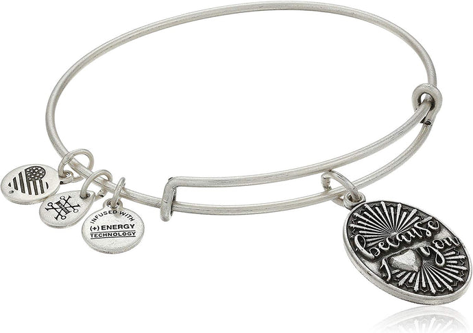 Because I Love You Bangle-Silver