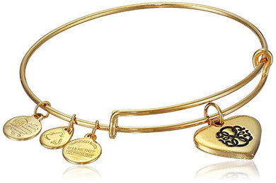 Path of Life Heart Bangle-Gold