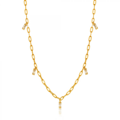 Glow Drop Necklace-Gold