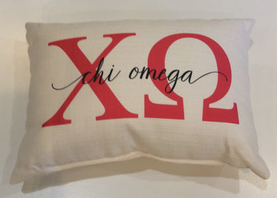Chi Omega-Large Letters Overlap Pillow
