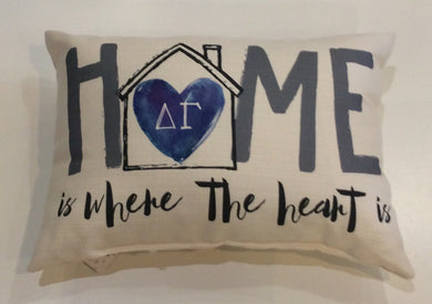 Delta Gamma-Home is Where the Heart Pillow