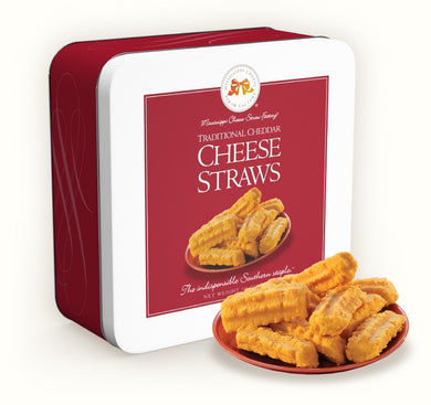 Traditional Cheddar Cheese Straws-10 oz Gift Tin
