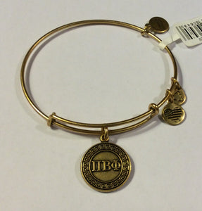 Pi Beta Phi-Sorority Charm Bangle-Gold