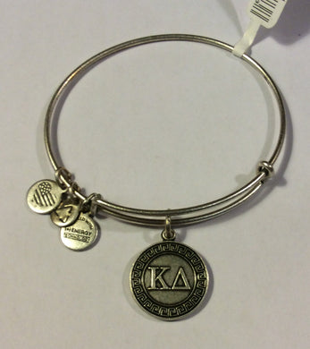 Kappa Delta-Sorority Charm Bangle-Silver