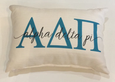 Alpha Delta Pi-Large Letters Overlap Pillow
