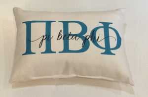 Pi Beta Phi-Large Letters Overlap Pillow