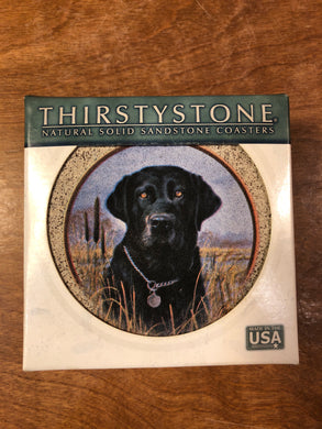 ThirstyStone Coaster Killen's Black  Lab (set of 4)