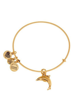 Dolphin Bangle-Gold