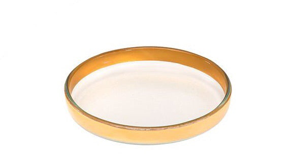 "Small Round Plate- Gold Mod (6.5"")"