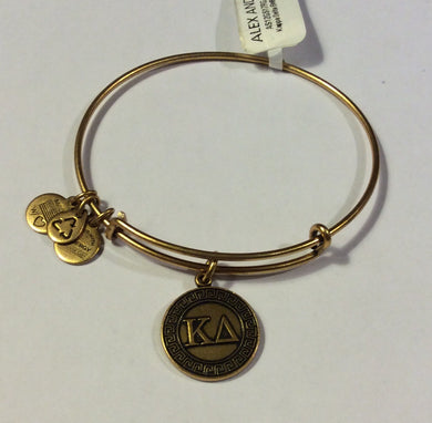 Kappa Delta-Sorority Charm Bangle-Gold