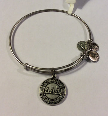 Delta Delta Delta-Sorority Charm Bangle-Silver