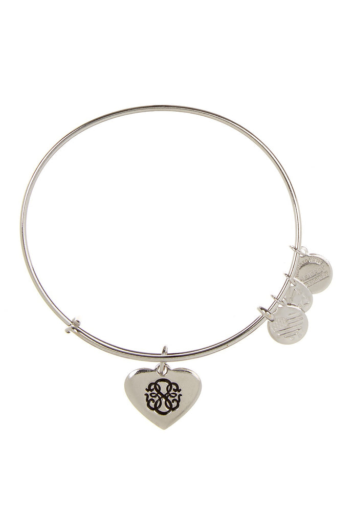 Path of Life Heart Bangle-Silver