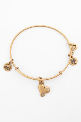 Cupid's Heart Bangle-Gold