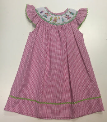 Le Za Me-Princess Smocked Angel Wing Dress