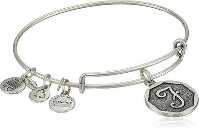 Initial F Bangle-Silver