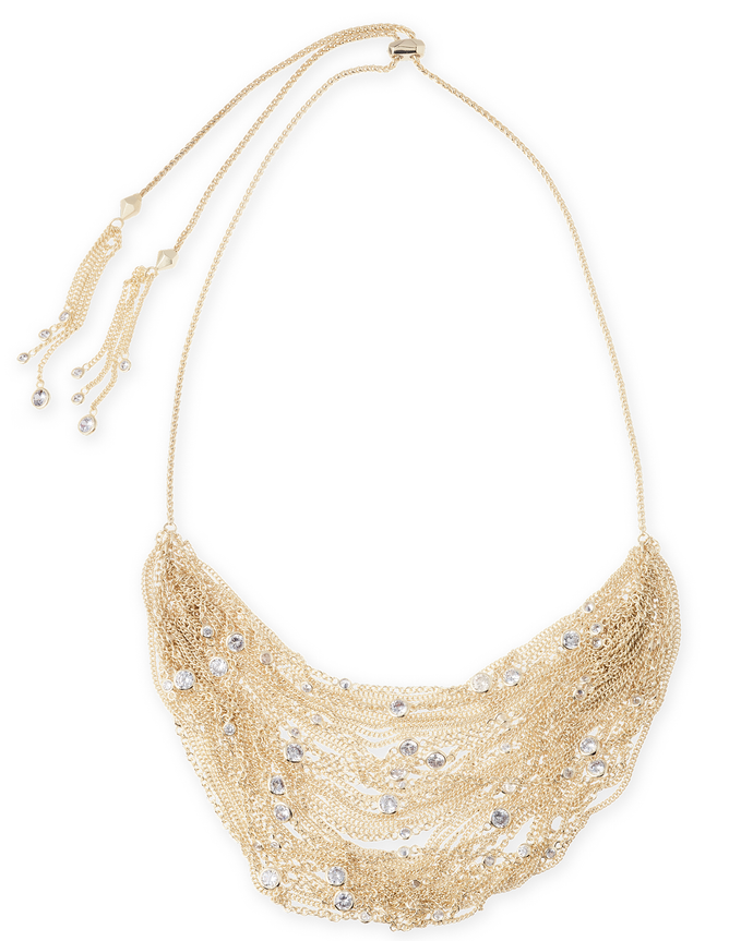 SALE-Anastasia Statement Necklace In Gold