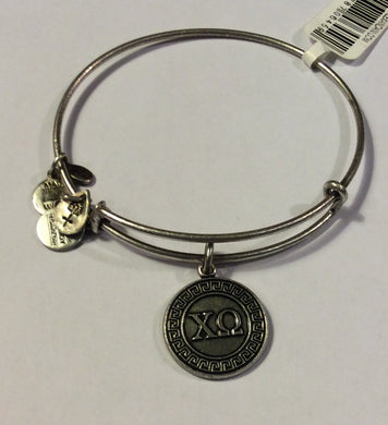 Chi Omega-Sorority Charm Bangle-Silver