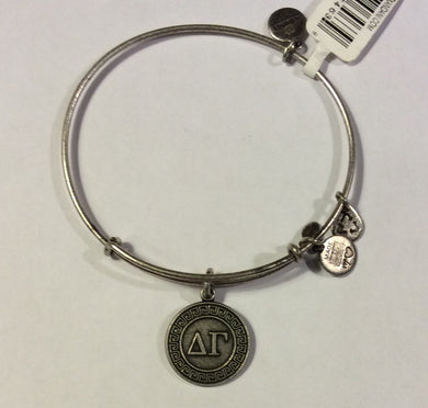 Delta Gamma-Sorority Charm Bangle-Silver