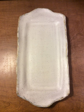 Charming White-Rectangle Tray w/Handles