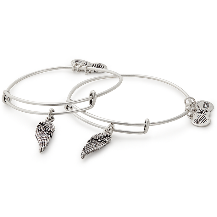 Wings Bangle Set of 2-Silver
