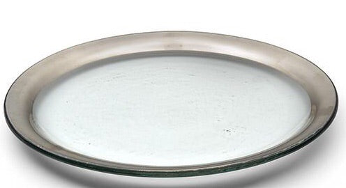 "Dinner Plate-Platinum Roman Antique (10"")"